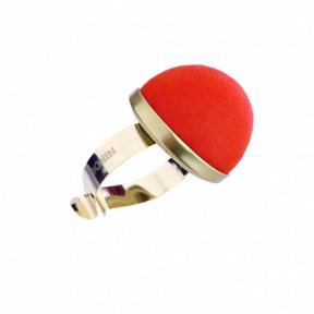 Браслет метал с подушкой для игл Красный Bohin (Франция) 75591