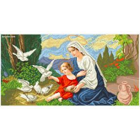 Набор для вышивания бисером БС Богородица и голуби БІГ фото