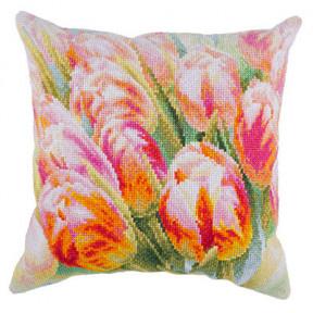 Набор для вышивки крестом Panna Весенние цветы (Подушка) ПД-1916