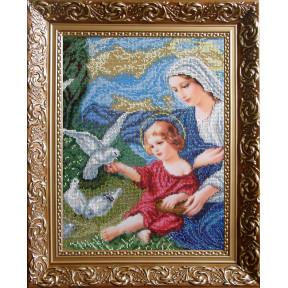 """Набор для вышивания бисером БС Солес """"Богородица и голуби"""" БІГм"""