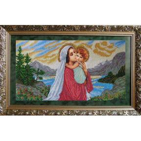 Набор для вышивания бисером БС Солес Мадонна и дитя МІД фото