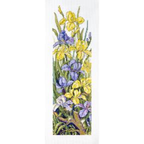 Набор для вышивания крестом Мережка Лягушки в цветах К-135
