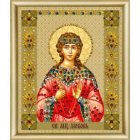 """Набор для изготовления картины со стразами Чарівна Мить """"Икона святой мученицы Любови""""  КС-124"""
