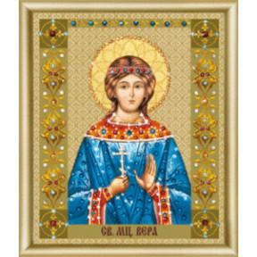 """Набор для изготовления картины со стразами Чарівна Мить """"Икона святой мученицы Веры""""  КС-126"""