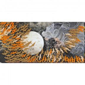Набор для вышивки бисером на холсте Абрис Арт«Журавли» АВ-680