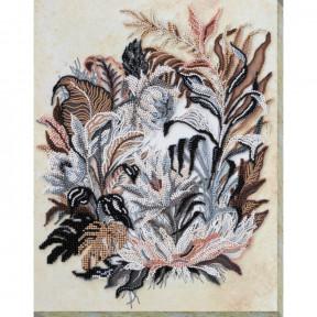 Набор для вышивки бисером на холсте Абрис Арт «Рисунок сепией » АВ-679