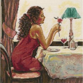 Набор для вышивки крестиком RTO Роза и вино M435