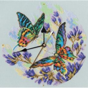 Набор для вышивки крестиком RTO Радужные бабочки M40014