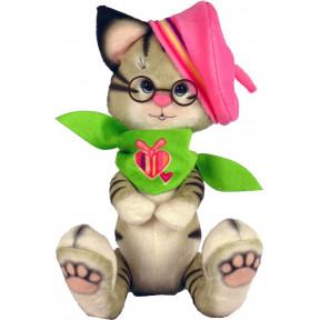 Набор для шитья мягкой игрушки ZooSapiens Котик в берете М4007