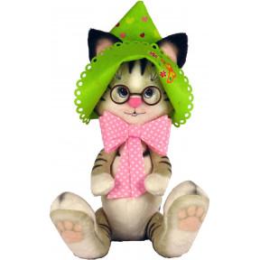 Набор для шитья мягкой игрушки ZooSapiens Кошечка в панамке М4008