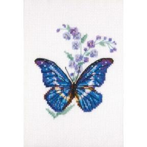 Набор для вышивки крестом RTO Синюха и бабочка EH364