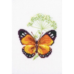 Набор для вышивки крестом RTO Цветок тмина и бабочка EH365