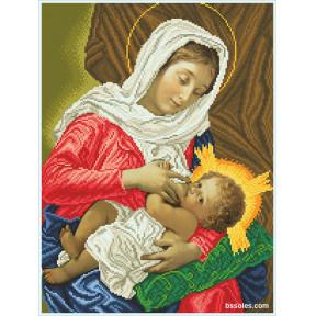Набор для вышивания бисером БС Солес Богородица кормилица (на