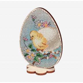 Набор для вышивки крестом Alisena Пасхальная -цыпленок– на подставке 5510-А
