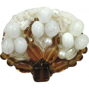 """Набор для изготовления броши Crystal Art """"Хлопок"""" БП-195"""