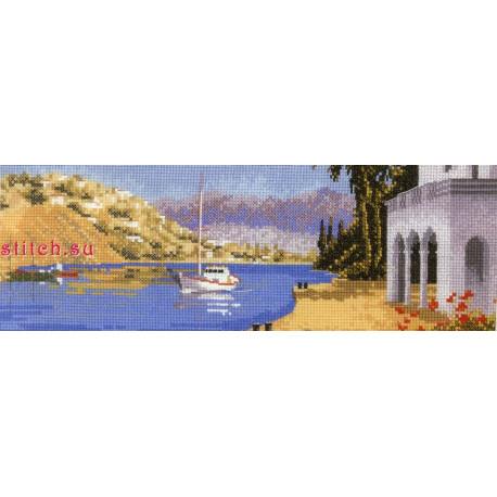 Схема для вышивания Heritage Crafts Mediterranean Harbour HC613