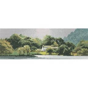 Схема для вышивания Heritage Crafts Lakeside House HC612
