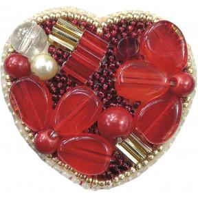 """Набор для изготовления броши Crystal Art """"Сердце"""" БП-200"""