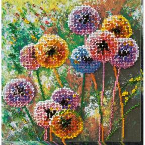 """Набор для вышивки бисером на холсте Абрис Арт """"Разноцветные шары"""" АМВ-017"""