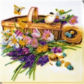 "Набор для вышивки бисером на холсте Абрис Арт ""Ранние цветочки"" АМВ-024"