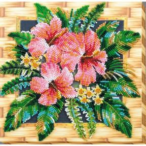 """Набор для вышивки бисером на холсте Абрис Арт """"Цветы Танзании"""" АМВ-026"""
