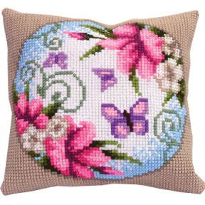 Набор для вышивки подушки Чарівна Мить РТ-153 Венок из лилий