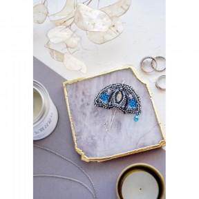 """Набор для вышивки бисером украшения на натуральном художественном холсте Абрис Арт """"Летний дождь"""" AD-049"""