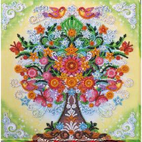 """Набор для вышивки бисером на холсте Абрис Арт """"Сказочное дерево"""" АМВ-042"""