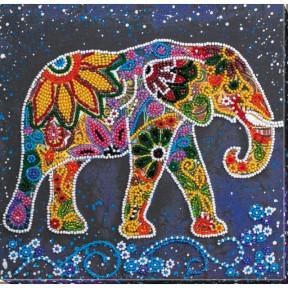 """Набор для вышивки бисером на холсте Абрис Арт """"Индийский слон"""" АМВ-046"""