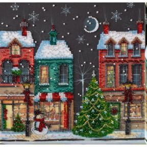 """Набор для вышивки бисером на холсте Абрис Арт """"Праздничный городок"""" АМВ-048"""