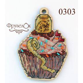 """Набор для вышивки крестом на деревянной основе ФрузелОк """"Наперсток"""" 0303"""