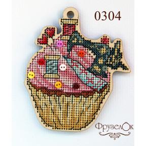 """Набор для вышивки крестом на деревянной основе ФрузелОк """"Швейная машинка """"0304"""