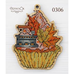 """Набор для вышивки крестом на деревянной основе ФрузелОк """"Утюг"""" 0306"""