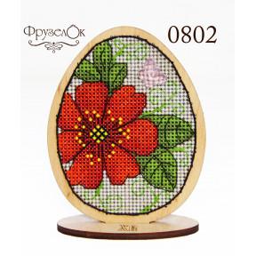 """Набор для вышивки крестом на деревянной основе ФрузелОк """"Писанка"""" 0802"""