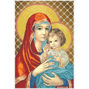 Набор Для Вышивания Бисером БС Солес Мадонна с ребенком (в