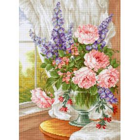 Набор для вышивки крестом Luca-S Цветы у окна BU4015