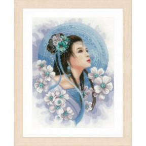 """Набор для вышивания Lanarte  Asian Lady In Blue """"Азиатская девушка в голубом"""" PN-0169168"""