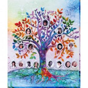 Набор для вышивки бисером на холсте Абрис Арт «Семейное дерево» АВ-698