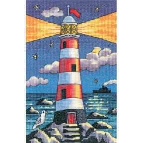 Набор для вышивания крестом Heritage Crafts Lighthouse by Night H1389