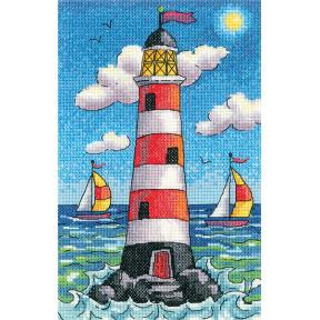 Набор для вышивания крестом Heritage CraftsLighthouse by Day  H1388