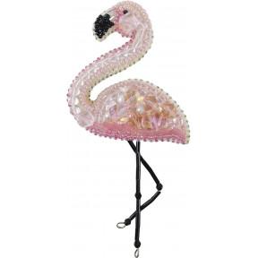 """Набор для изготовления броши Crystal Art """"Фламинго"""" БП-216"""