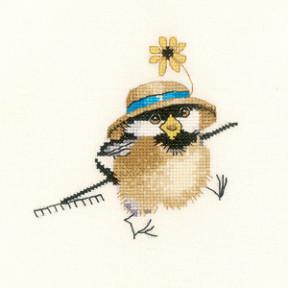 Набор для вышивания крестом Heritage Crafts Gardener Chick H865