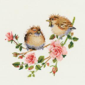 Набор для вышивания крестом Heritage Crafts Rose Chick-Chat H778