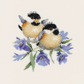 Набор для вышивания крестом Heritage Crafts Bluebell Chick-Chat H776