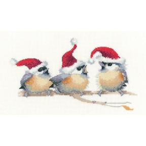 Набор для вышивания крестом Heritage Crafts Festive Chicks H1372