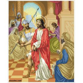 """Набор для вышивания бисером БС Солес """"Иисуса приговаривают к смерти"""" ХД-01"""