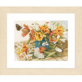 """Набор для вышивания Lanarte Daffodils and Tulips """"Нарциссы и тюльпаны"""" PN-0154325"""