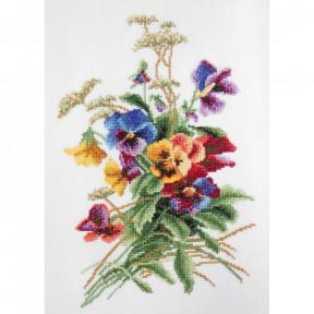 """Набор для вышивки крестом Повитруля """"Летние цветы"""" P6-033"""