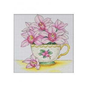 Набор для вышивки крестом Dantel Цветки орхидеи 004.1 d