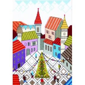 Набор для вышивания крестом  Чарівна Мить Праздничная площадь ВТ-245